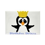 Birthday Prince Penguin Magnets