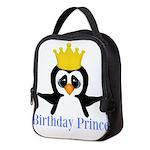 Birthday Prince Penguin Neoprene Lunch Bag