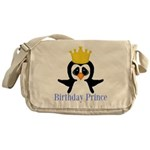 Birthday Prince Penguin Messenger Bag