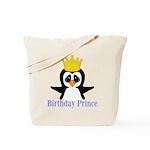 Birthday Prince Penguin Tote Bag