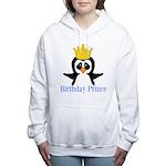 Birthday Prince Penguin Women's Hooded Sweatshirt