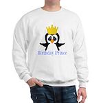 Birthday Prince Penguin Sweatshirt