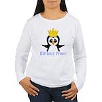 Birthday Prince Penguin Long Sleeve T-Shirt