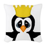 Penguin King Woven Throw Pillow