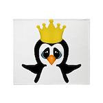 Penguin King Throw Blanket