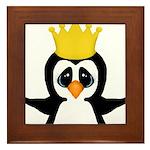 Penguin King Framed Tile