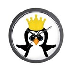 Penguin King Wall Clock