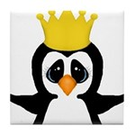 Penguin King Tile Coaster