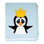 Penguin King baby blanket