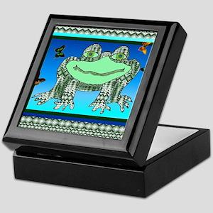 Argyle Frog 2 Keepsake Box