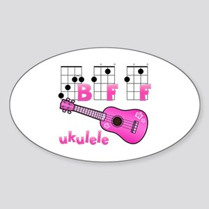 Ukulele BFF Sticker (Oval)