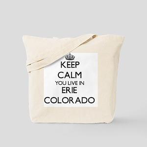 Keep calm you live in Erie Colorado Tote Bag