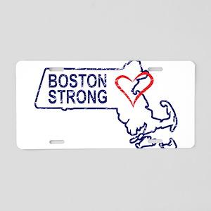 Boston Strong Heart Aluminum License Plate