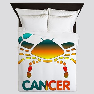Rainbow Cancer Queen Duvet