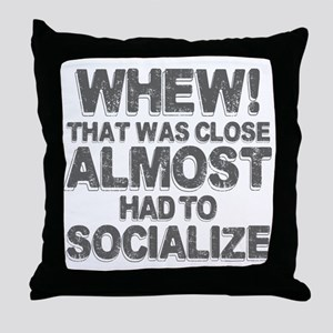 Antisocial Introvert Humor Throw Pillow