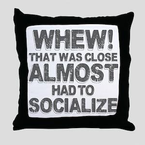 Antisocial Introvert Humor Throw Pillow