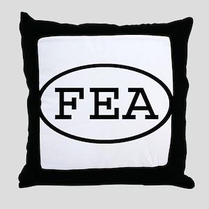 FEA Oval Throw Pillow