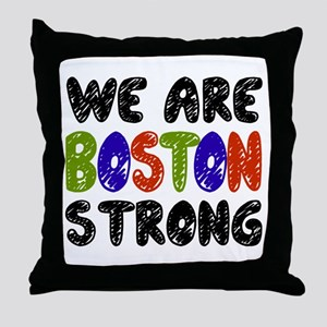 We Are Boston Strong Throw Pillow