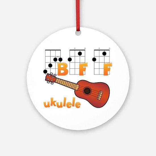 Cute Ukulele player Round Ornament