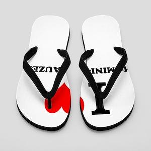 I love My MINI-SCHNAUZER Flip Flops