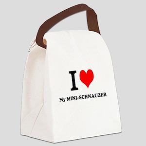 I love My MINI-SCHNAUZER Canvas Lunch Bag