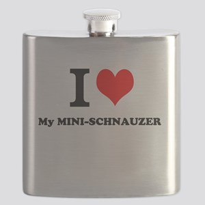 I love My MINI-SCHNAUZER Flask