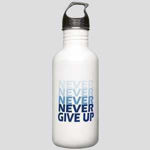 Never Give Up Blue Lig Stainless Water Bottle 1.0L