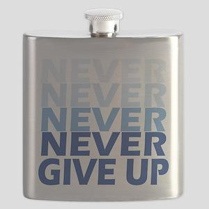 Never Give Up Blue Light Flask