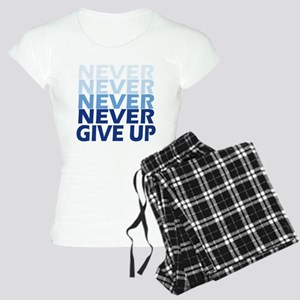 Never Give Up Blue Light Women's Light Pajamas