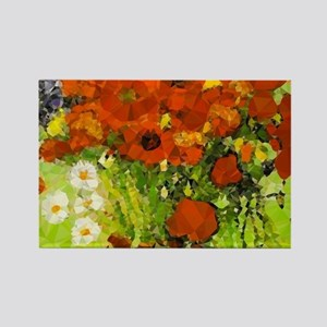 Van Gogh Red Poppies Daisies Magnets