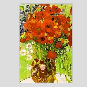 Van Gogh Red Poppies Postcards (package Of 8)