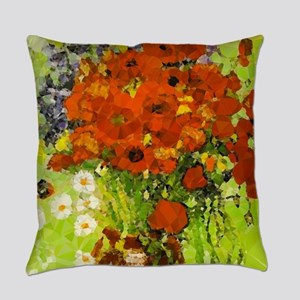 Van Gogh Red Poppies Daisies Everyday Pillow