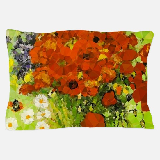 Van Gogh Red Poppies Daisies Pillow Case