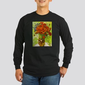 Van Gogh Red Poppies Daisies Long Sleeve T-Shirt