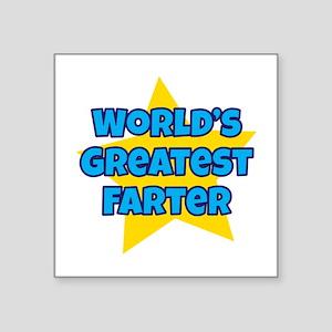 Worlds Greatest Farter Sticker