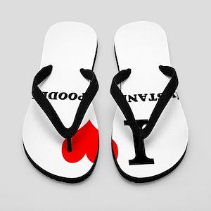 I Love My STANDARD POODLE Flip Flops