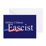 Clinton = Fascist Greeting Cards (Pk of 10)