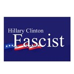 Clinton = Fascist Postcards (Package of 8)