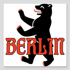 "Berlin Coat of Arms Square Car Magnet 3"" x 3"""
