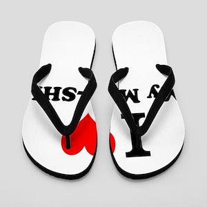 I Love My MAL-SHI Flip Flops