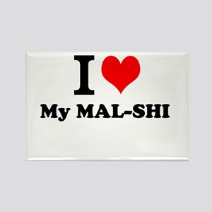 I Love My MAL-SHI Magnets