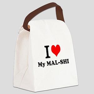 I Love My MAL-SHI Canvas Lunch Bag