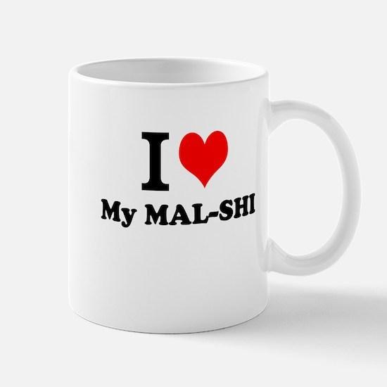 I Love My MAL-SHI Mugs