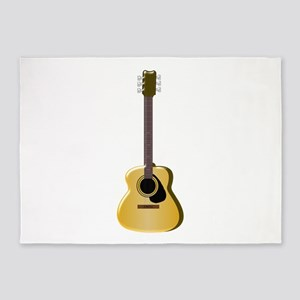 Acoustic Guitar 5'x7'Area Rug