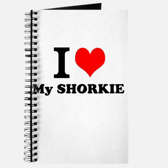 I Love My SHORKIE Journal