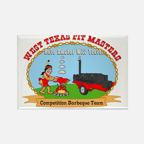 West Texas Pit Masters Rectangle Magnet