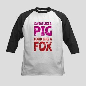 Sweat Like a Pig - Look Like a Fox Baseball Jersey