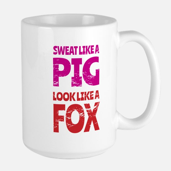 Sweat Like a Pig - Look Like a Fox Mugs