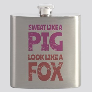Sweat Like a Pig - Look Like a Fox Flask