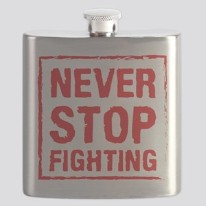 Never Stop Fighting (Red) Flask